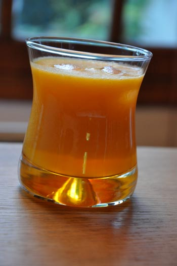 Jus de fruits poires oranges